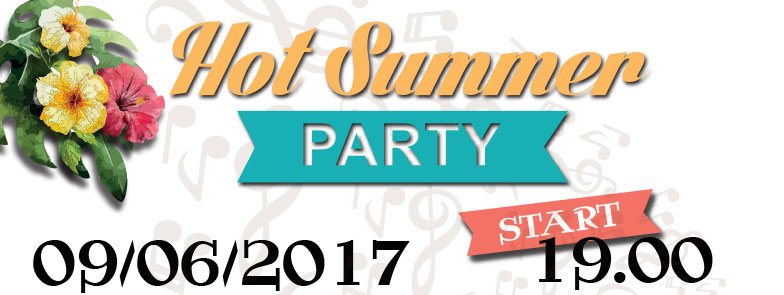 banner hot summer party